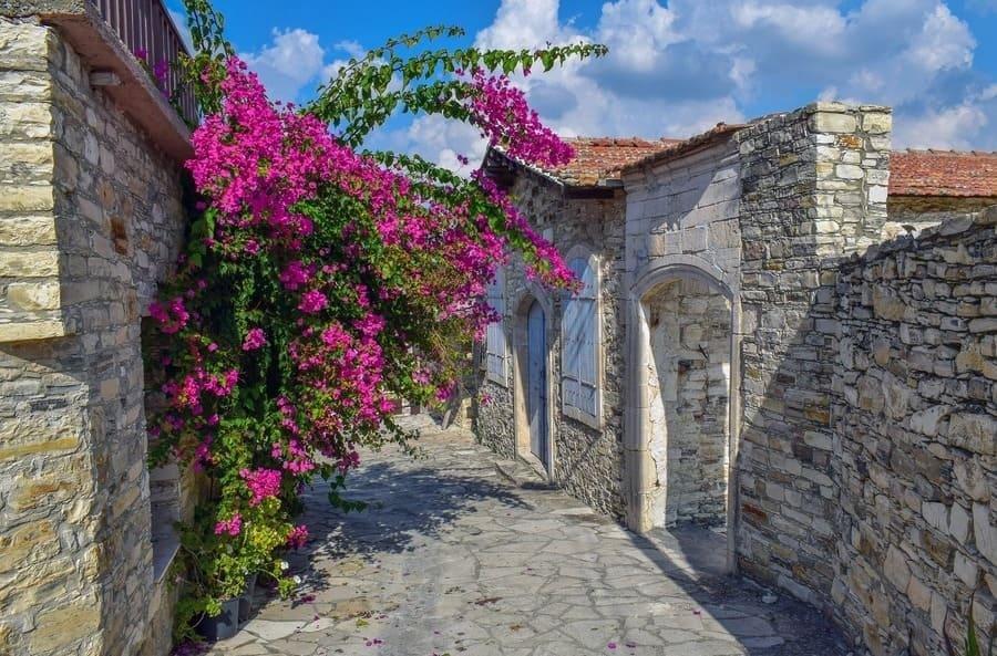 Деревня Омодос. Кипр