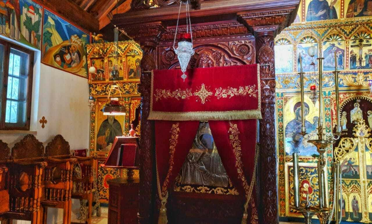 Икона богородицы. Монастырь Махерас